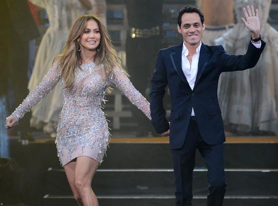 Jennifer Lopez và Marc Anthony (ảnh: Getty)