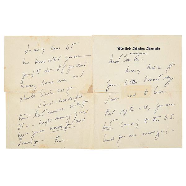 Một trong số những lá thư được Kennedy gửi người tình
