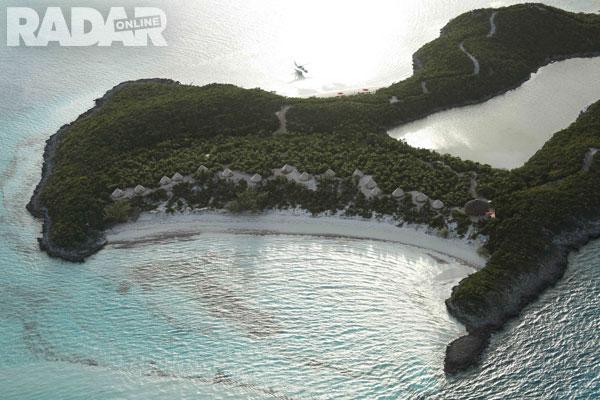 Toàn cảnh hòn đảo riêng của ngôi sao 51 tuổi.