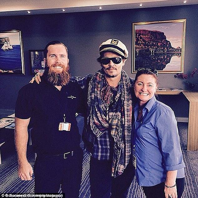 Johnny Depp trong thời gian đóng phim ở Australia.