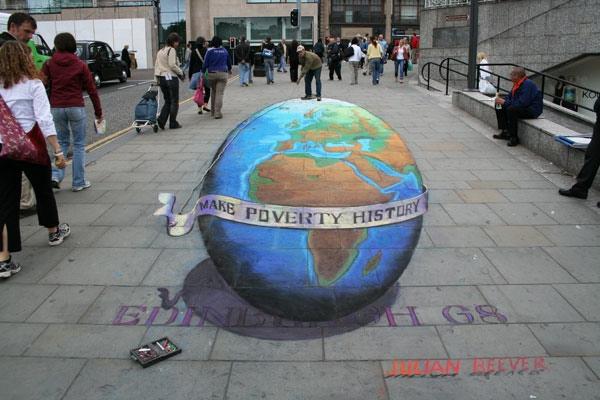 Make Poverty History (Julian Beever)