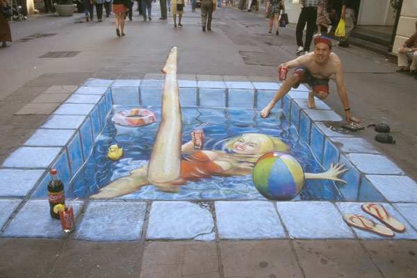 Swimming Pool In The High Street (Julian Beever)