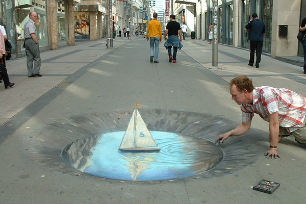 Put The Boat Out (Julian Beever)