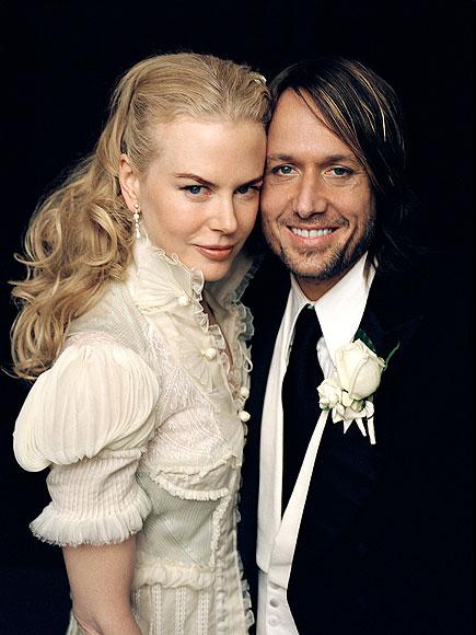 Nicole Kidman và Keith Urban trong đám cưới tổ chức vào tháng 6/2006. (Ảnh: People magazine)