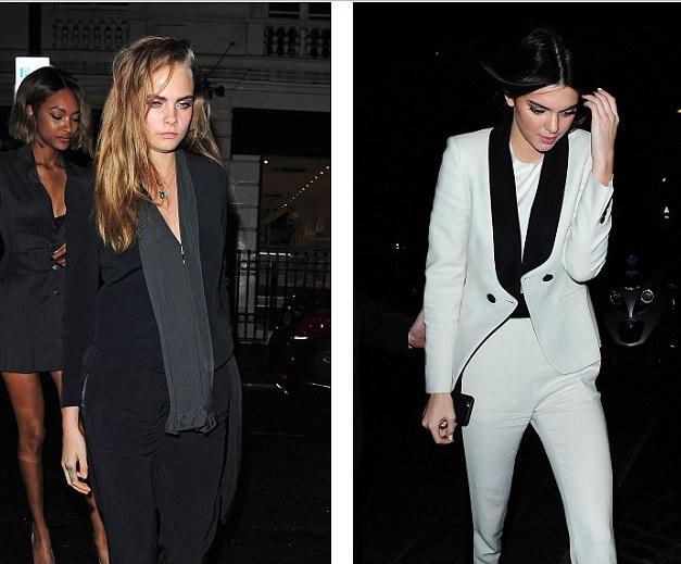 Cả hai dường như phối hợp phong cách khá ăn ý trong tông màu đen - trắng.