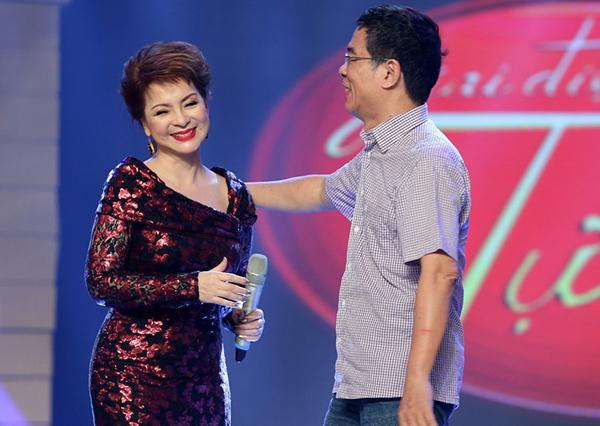 Đây còn là dịp Ái Vân hội ngộ với nhạc sĩ Đặng Hữu Phúc - tác giả của ca khúc, đồng thời là người đã viết tặng ca khúc cho riêng cô.