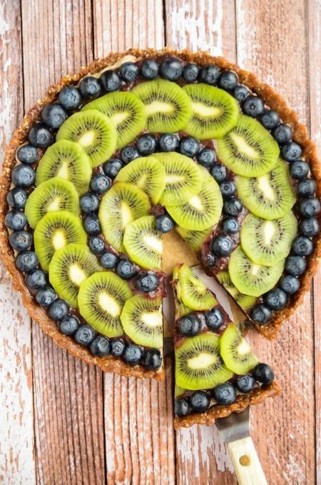 Bánh nướng hoa quả với Kiwi và việt quất