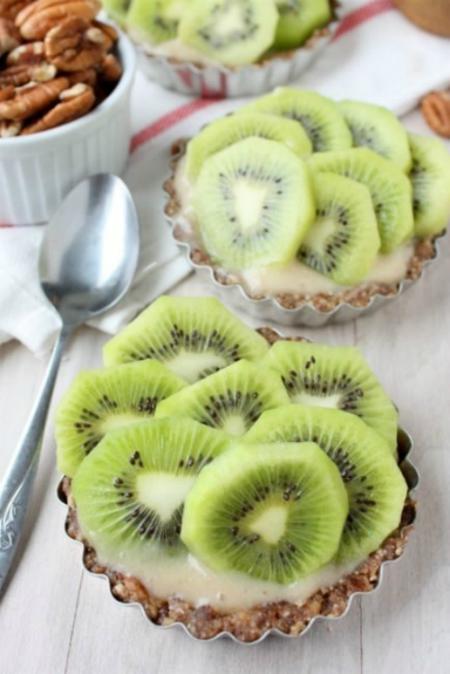 Bánh chuối với Kiwi cũng là món bánh tuyệt ngon cho mùa hè