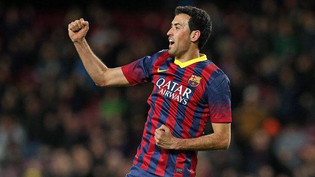 Sergio Busquets đang là nhân tố không thể thiêu trên hàng tiền vệ của Barcelona