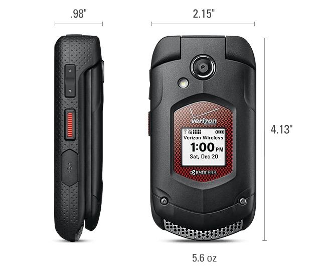 Phiên bản DuraXV Plus do Verizon phân phối còn được trang bị phím Push to Talk