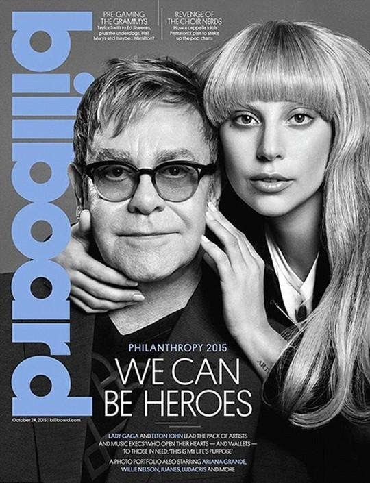Lady Gaga và Elton John trên trang bìa Billboard số mới.