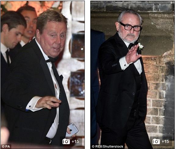 Bác Harry Redknapp và cha đẻ Frank Lampard Snr tại lễ cưới.