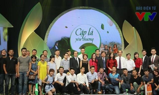 Các thành viên của ê-kíp thực hiện Cặp lá yêu thương trong buổi ra mắt dự án (ảnh: Chi Nguyễn)