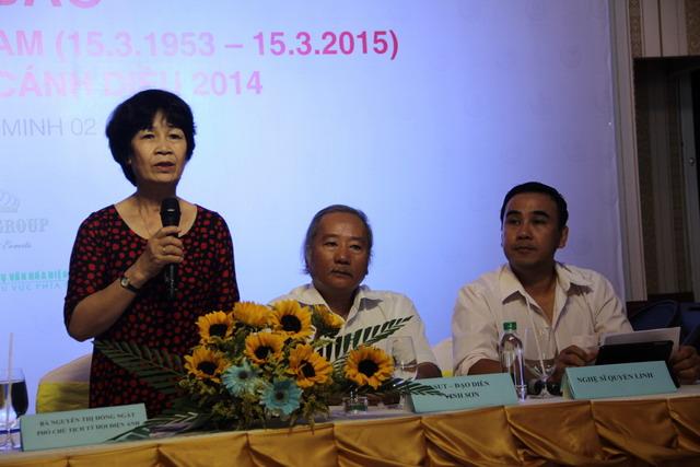 Phó Chủ tịch Hội Điện Ảnh Việt Nam - Bà Lê Thị Hồng Ngát trong buổi họp báo