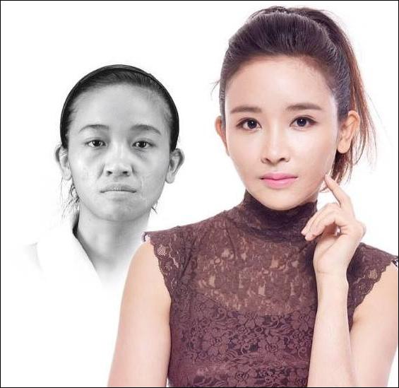 Lê Thị Thùy trước và sau khi tham gia chương trình.