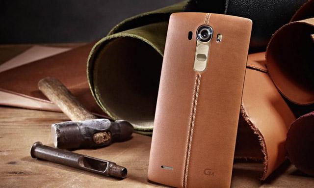 LG G4 sở hữu nắp lưng ốp da cao cấp