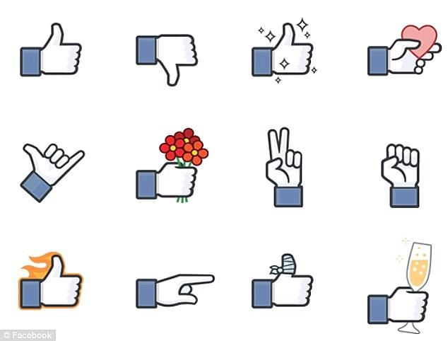 Nút Dislike xuất hiện trong phần Sticker của Facebook