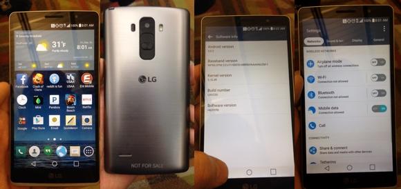 Hình ảnh nguyên mẫu chiếc LG G4 được đăng tải