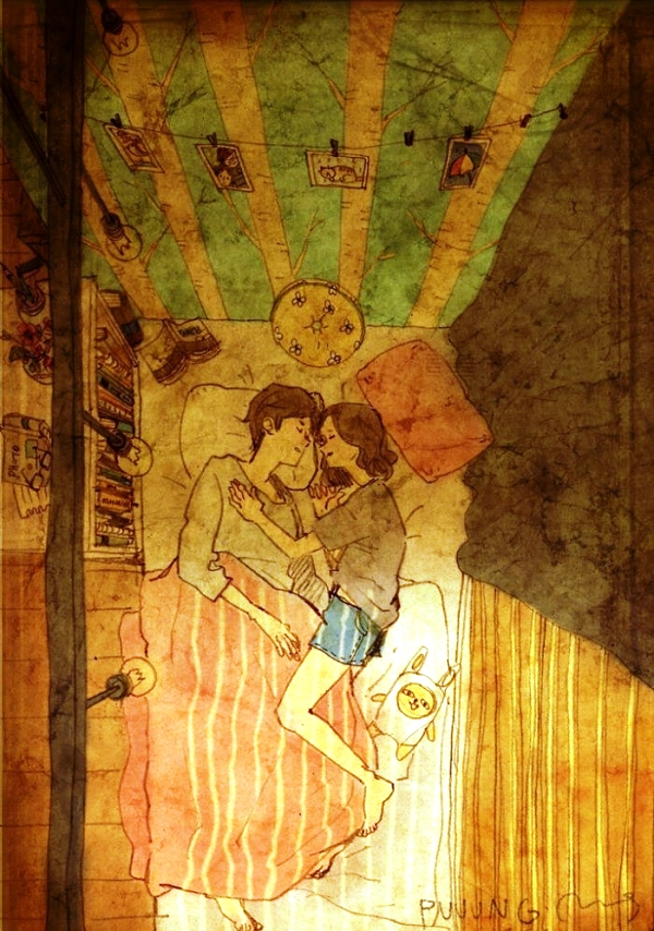 Khi ôm nhau ngủ