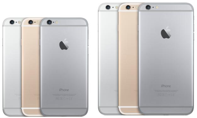 iPhone 6 và iPhone 6 Plus hiện đang có 3 phiên bản màu sắc là xám, bạc và vàng