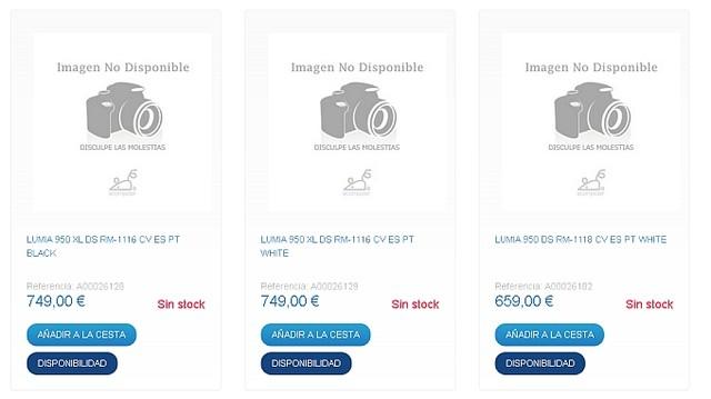 Giá bán của bộ đôi Lumia 950 và Lumia 950 XL được tiết lộ trên trang chủ của một đại lý bán lẻ tại Tây Ban Nha