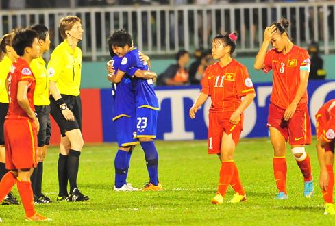 Bóng đá nữ Việt Nam thất bại cay đắng trước ngưỡng cửa dự World Cup.