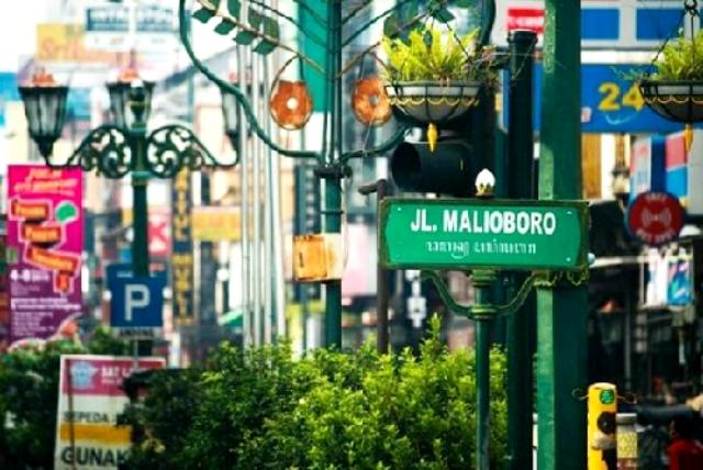 Khu phố Malioboro, Indonesia. (Ảnh: VNE)