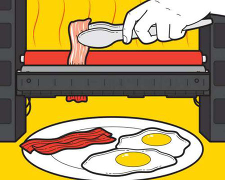 Làm thịt xông khói từ máy in