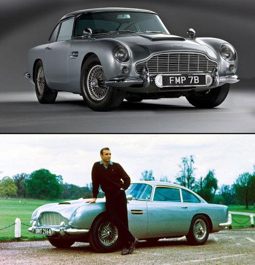 Chiếc Aston Martin DB5 đời 1964 tài tử Sean Connery lái trong cả hai bộ phim Goldfinger và Thunderball được bán với giá 4.107.560 USD