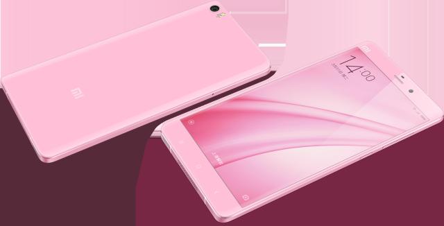 Mi Note phiên bản màu hồng
