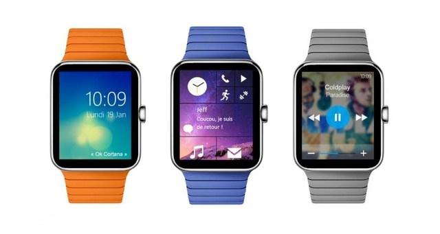 Giao diện của mẫu thiết kế Microsoft Watch