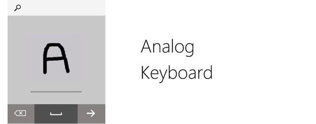 Microsoft Watch được trang bị tính năng tự nhận dạng chữ viết tay thông qua Analog Keyboard.