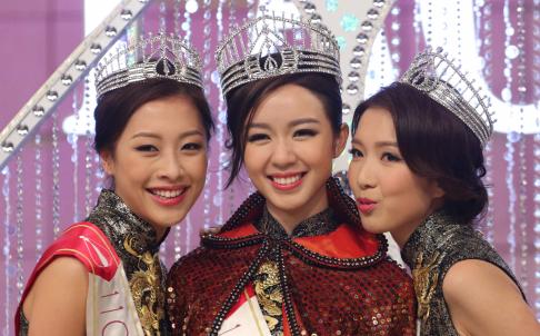 Hoa hậu Mạch Minh Thi và hai Á hậu Bàng Trác Hân, Quách Gia Văn.
