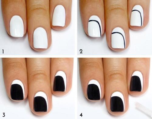Tạo một đường cong để dễ dàng sơn 2 màu.
