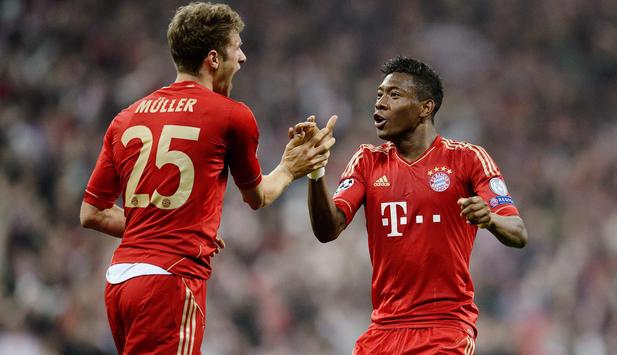 Muller và Alaba là hai trụ cột của Bayern góp mặt ở ĐHTB.