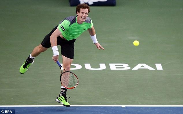 Murray nhiều khả năng sẽ đụng Federer ở bán kết Dubai Championships 2015.