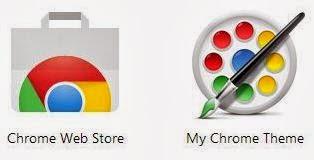 Hai tùy chọn trong ứng dụng My Chrome Theme