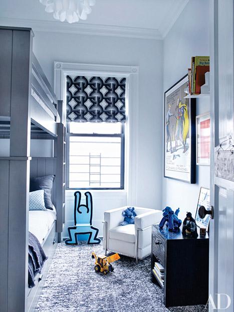 Phòng ngủ của hai bé sinh đôi 4 tuổi Gideon và Harper.