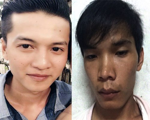 Từ trái qua: Nghi can Nguyễn Hải Dương, Vũ Văn Tiến. (Ảnh: Báo Thanh niên)
