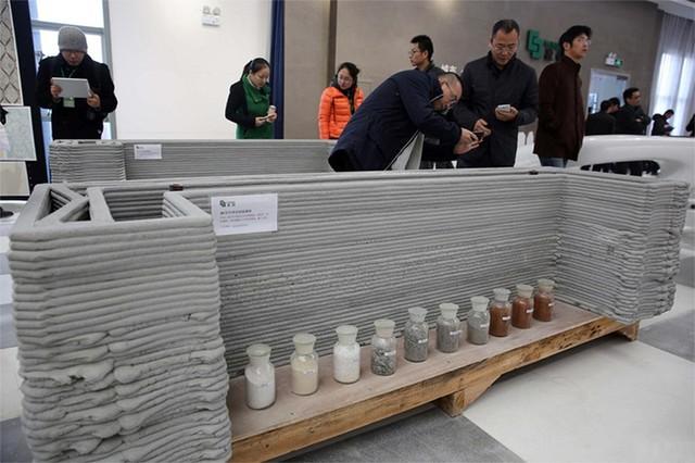 Các phần của tòa nhà được in bằng công nghệ 3D và ghép lại với nhau