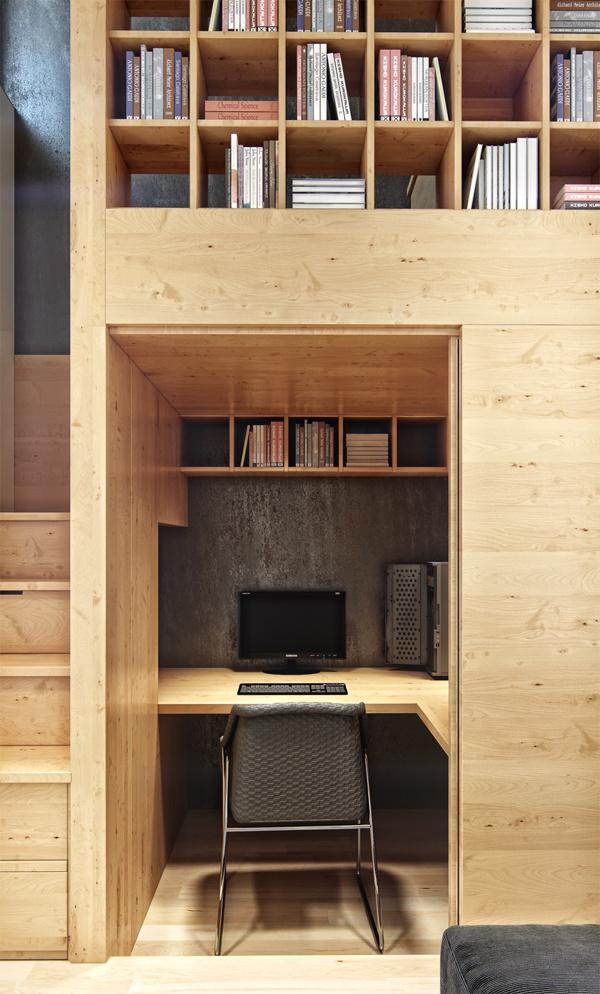 Không gian thích hợp dành riêng cho người thích yên tĩnh và thường muốn tập trung làm việc tại nhà.