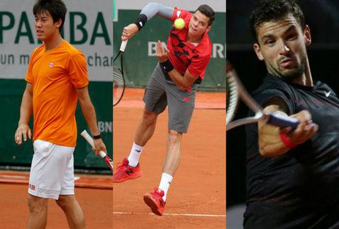 Milos Raonic, Grigor Dimitrov hay Kei Nishikori được xem là những ngôi sao đang lên của làng banh nỉ thế giới.