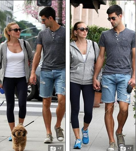 Cặp đôi trông rất tình cảm, dắt tay nhau dạo phố West Hollywood.