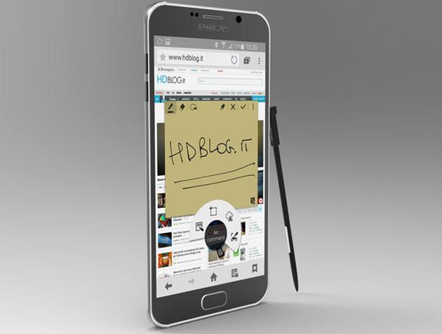 Một ý tưởng thiết kế Galaxy Note 5
