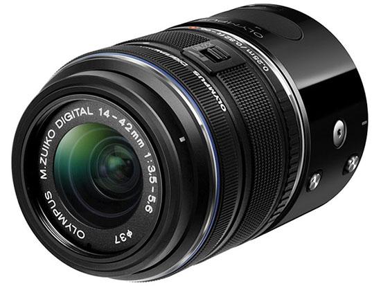 Olympus được trang bị ngàm có khả năng tương thích với mọi loại ống kính sử dụng ngàm MFT