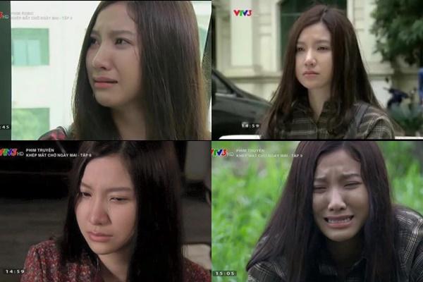 Những cảnh khóc của Thụy Miên được Hạnh Sino thể hiện trong phim.