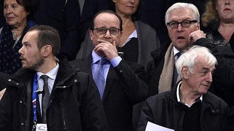 Tổng thống Pháp dự khán trận đấu nhưng sau khi vụ việc xảy ra ông đã được sơ tán kịp thời
