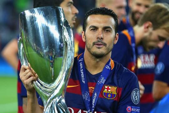Pedro là người hùng của Barca trong trận tranh Siêu cup châu Âu 2015.
