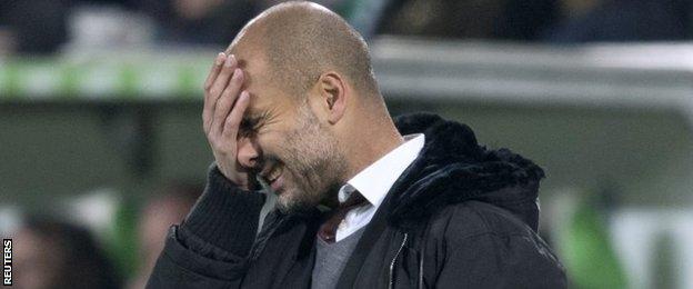 HLV Pep Guardiola thừa nhận, Wolfsburg xứng đáng thắng.