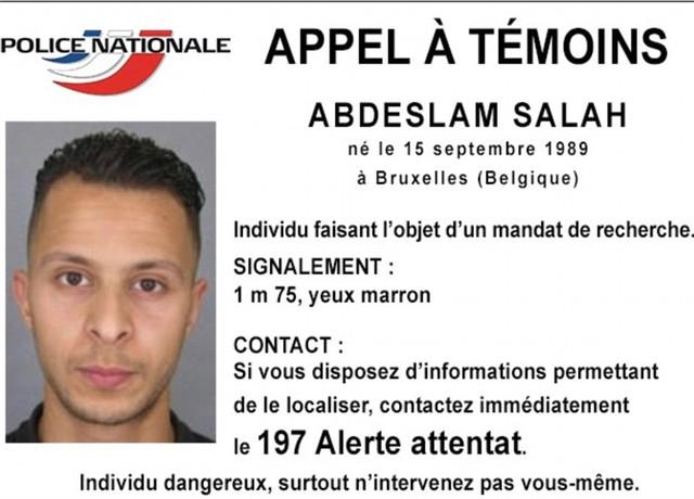 Chân dung Salah Abdelslam - một trong những kẻ chủ mưu của vụ tấn công khủng bố ở Paris.